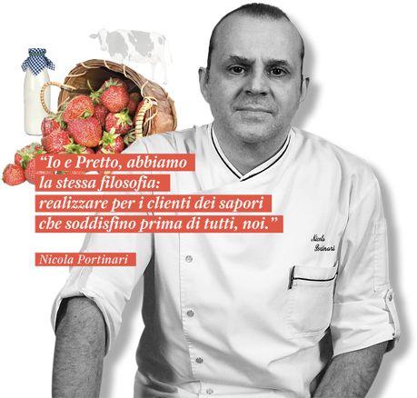 """Prova il sapore dei """"Gourmet Pretto"""" . I nostri maestri gelatieri producono questi gusti quotidianamente seguendo fedelmente le ricette segrete che gli chef hanno condiviso con loro. #ilmegliodellanatura #gustigourmet #nicolaportinari"""