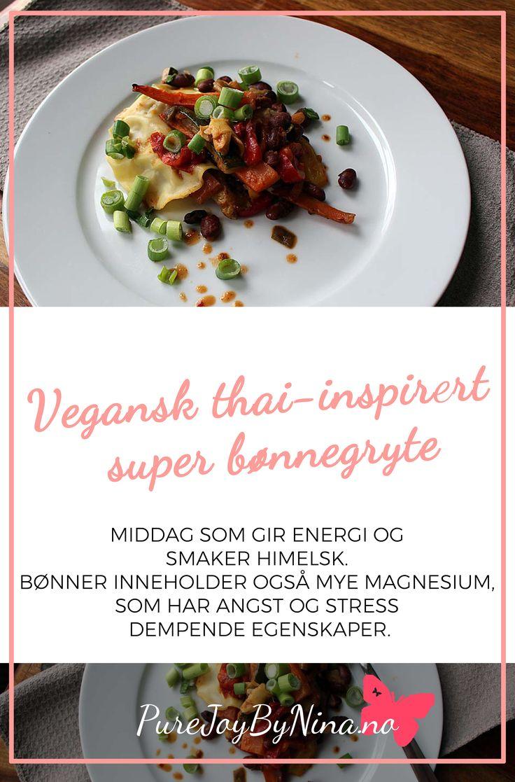 Deilig thai-inspirert vegansk bønne gryte.  #beanstew #bønnegryte #recipiebeanstew #oppskriftbønnegryte