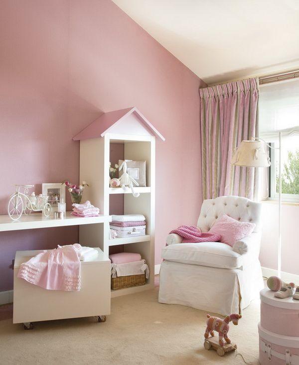 Pokój idealny dla dziewczynki. Subtelny róż podkreśla jego charakter.