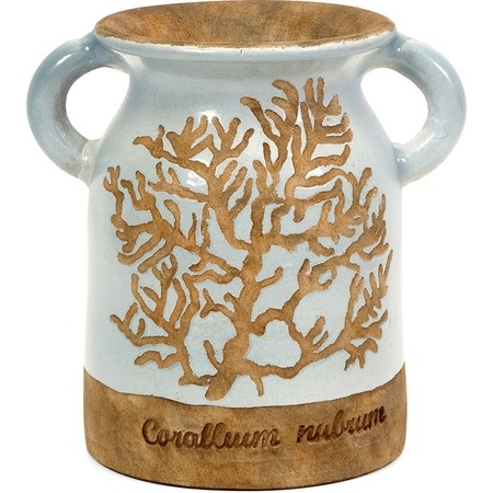 I pinned this Naples Urn from the Downhome Home Decor event at Joss and Main!Decor, Red Clay, Coral, Blue Glaze, Beach House, Shorts Urns, Naples Shorts, Naples Urns, Handles