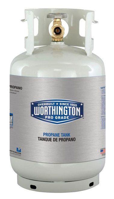 Worthington 281166 Refillable Steel Propane Cylinder / Tank - 11 lb. - 2.6 Gal.