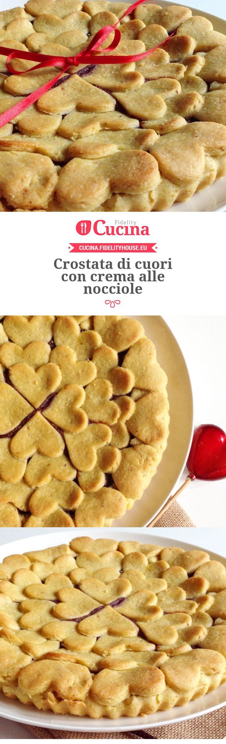 Crostata di cuori con crema alle nocciole della nostra utente Marta. Unisciti alla nostra Community ed invia le tue ricette!
