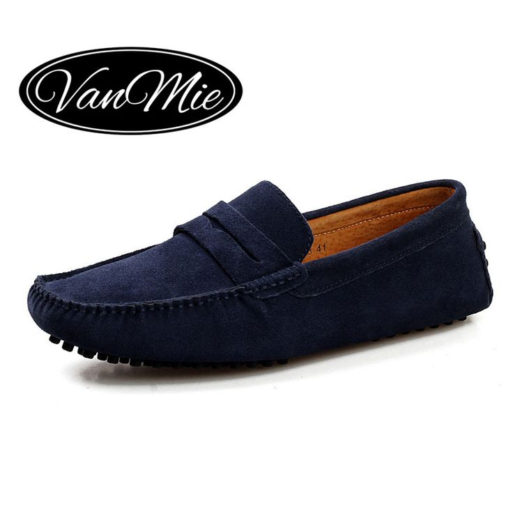 2017 Men Leather Shoes Casual Men Loafers Flats Shoes Slip On Moccasins  Mens Loafers Suede Leather Male Shoes Plus Size
