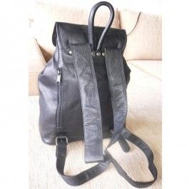 Full Grain Genuine Cowhide Leather Large Backpack