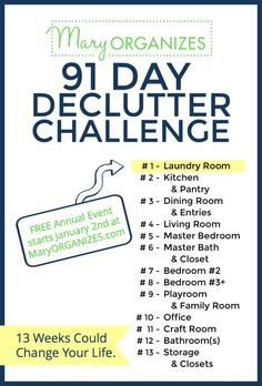 2017 Declutter Challenge – Starts January 2nd