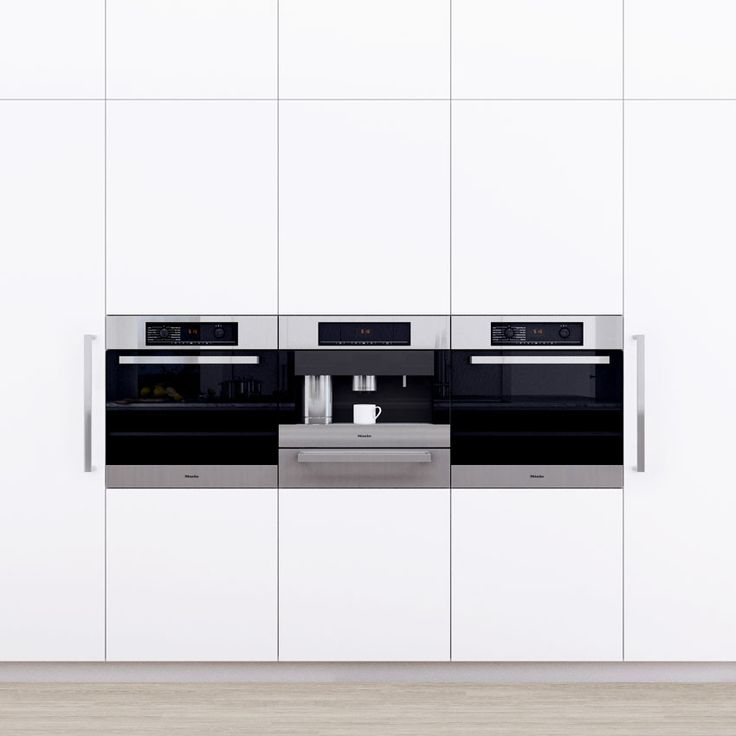 This kitchen illustrates the design potential using Miele appliances