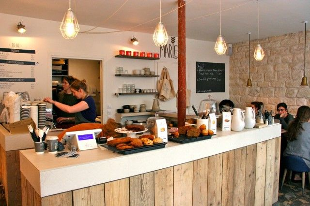 interieur koffieshop Marlette in Parijs