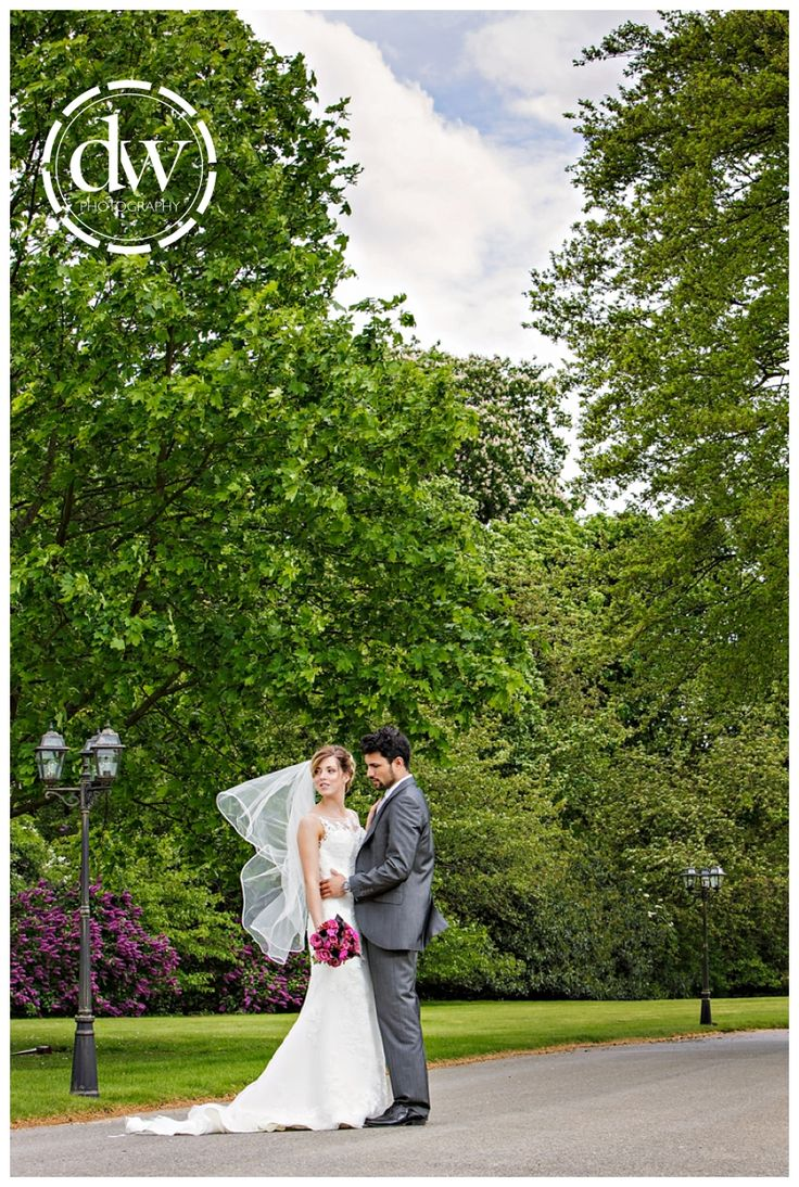 Bride and Groom Wedding Portrait at Paddocks House, Newmarket