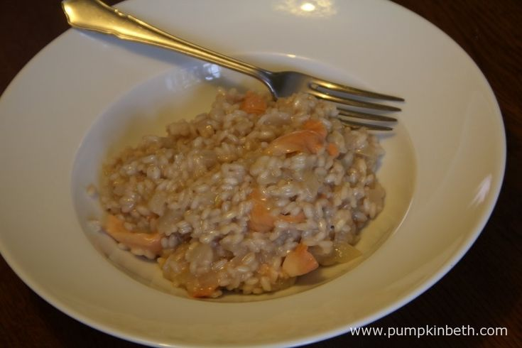 A home-made pink mushroom risotto!