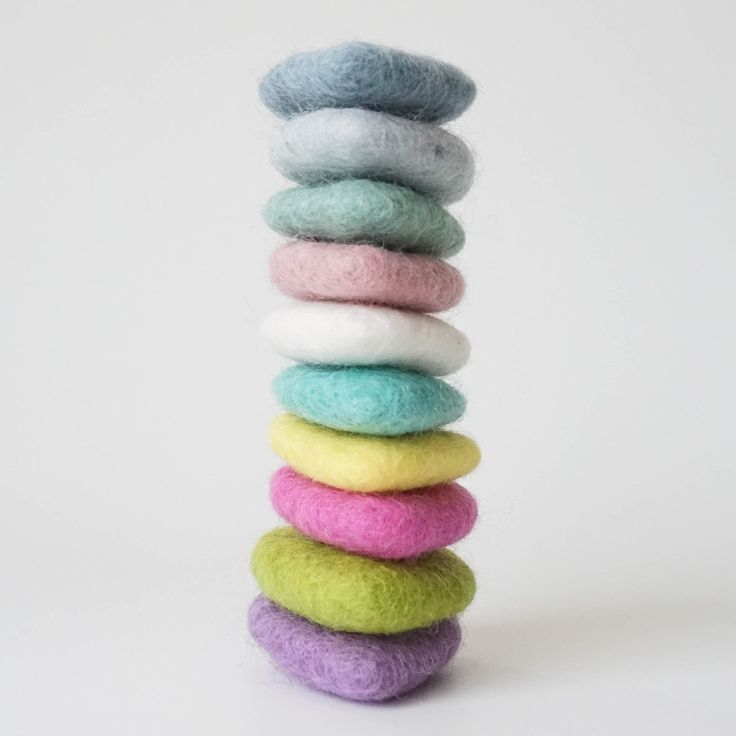 These adorable felted hearts are available to add to mobiles or garlands. I love this colour stack :)  All our mobiles & garlands are able to be customised to suit your decor.