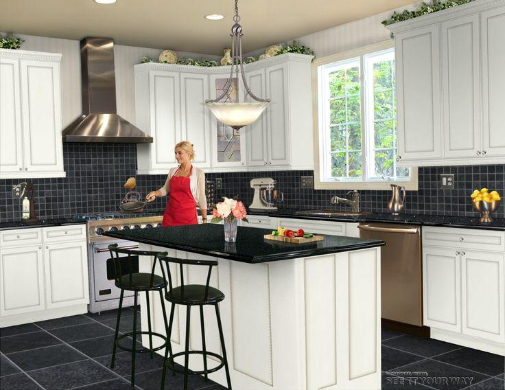 B Kitchen Maybe Use Some Lighter Grey Tiles In The Floor Or Backsplash