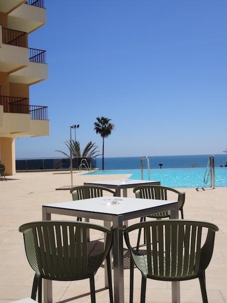 Terraza Piscina - Pool Terrace Solarium  Hotel Angela. Fuengirola, Costa del Sol. SPAIN