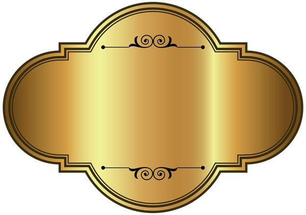 Golden Luxury Label Template PNG Clipart Picture