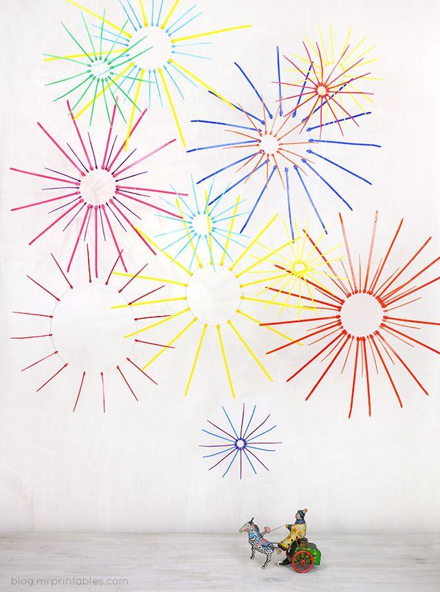 DIY zip tie fireworks display - 4th of July
