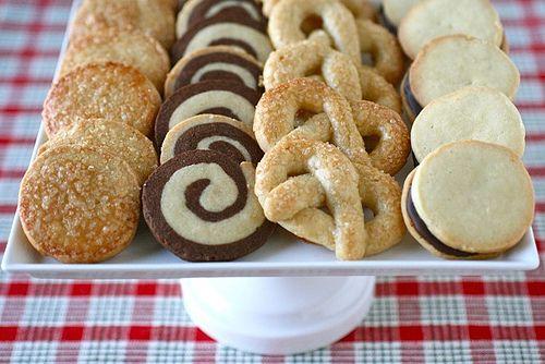 Surtido de galletas de mantequilla francesas