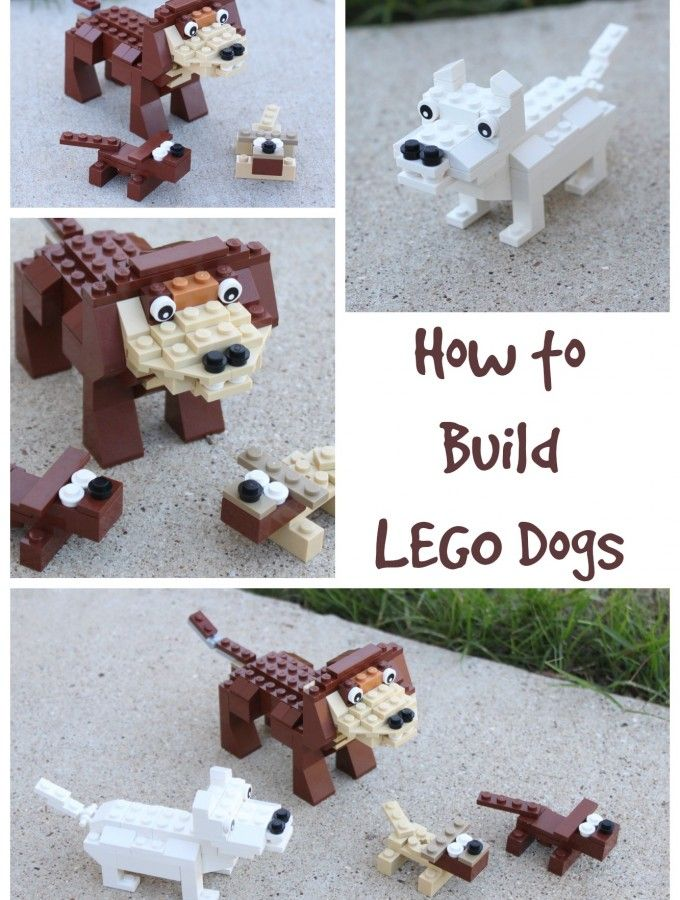 How to Build LEGO Dogs. I am going to pretend I am pinning this for my son... Lol... but it is for me.