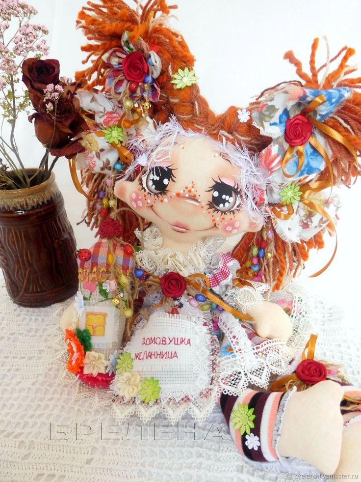 Купить Текстильная кукла Домовушка Хозяюшка 2. Интерьерная кукла в интернет магазине на Ярмарке Мастеров