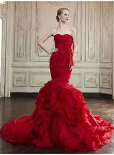 Hall Church Trumpet/Mermaid Sweetheart Floor-Length Pick-Ups Elegant & Luxurious All Sizes Wedding Dress