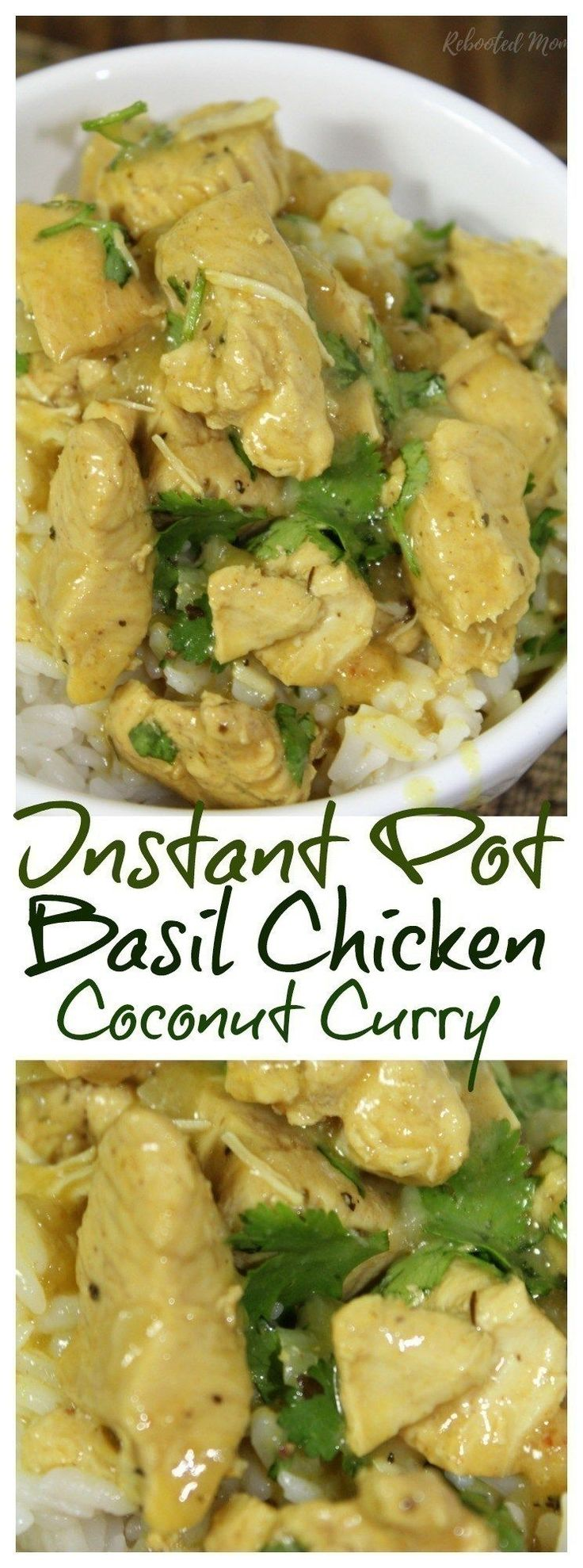 An incredibly easy basil chicken coconut curry created in less than 15 minutes using your Instant Pot.