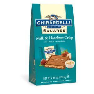 Ghirardelli Chocolate Squares Milk & Hazelnut Crisp Chocolate, 4.56 oz. Mmmmhmmmm!