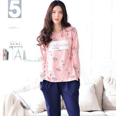 Big Yards M-XXL Women Pajamas Sets 100% Cotton Nightwear Spring Autumn Long Sleeve Pyjamas O-Neck Sleepwear Female Pijamas Mujer #Affiliate