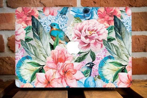 Jardin floral Design MacBook Air 13 cas amie cadeau MacBook 12 étui MacBook Air…