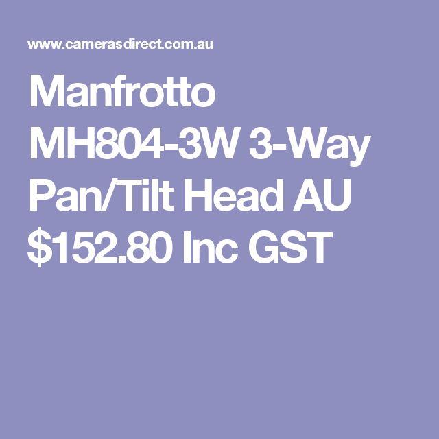 Manfrotto MH804-3W 3-Way Pan/Tilt Head  AU $152.80 Inc GST