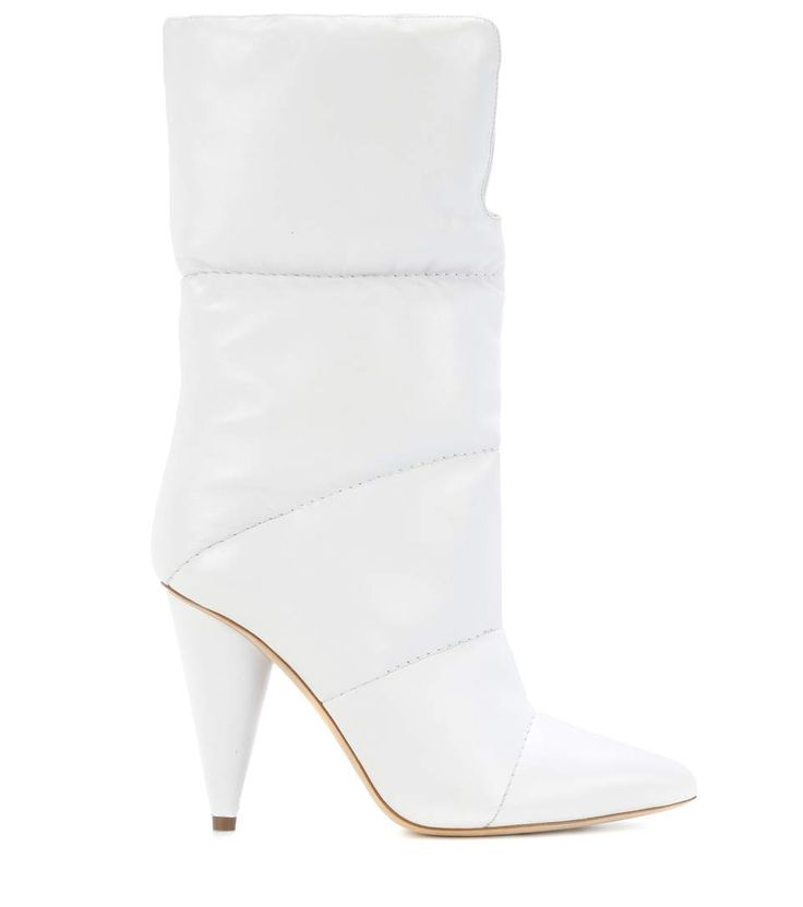 "GABRIELLE'S AMAZING FANTASY CLOSET | Jimmy Choo's ""Sara"" 100 White Leather Boots"