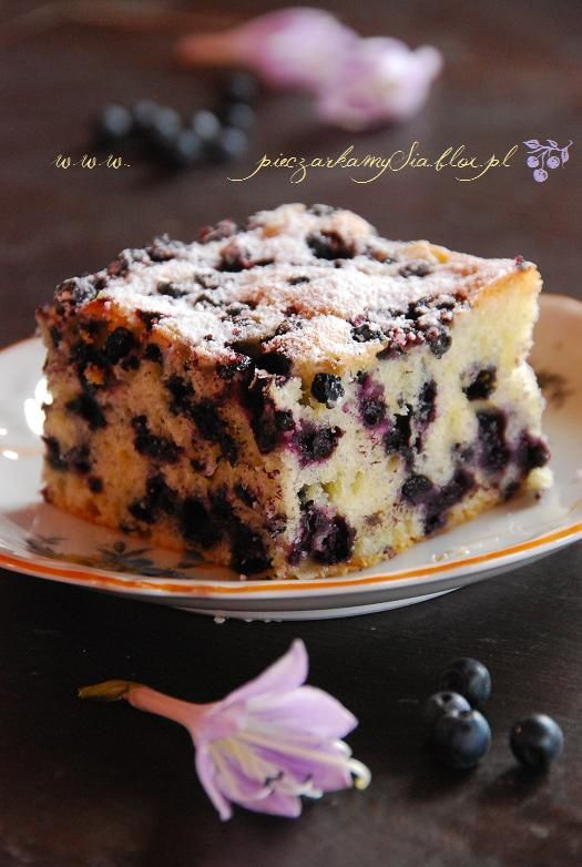 Ciasto cytrynowe z jagodami | Słodkie Przepisy Kulinarne