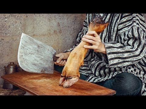 Moroccan Cow Foot Stew Frakech الكرعين بالحمص مع رجل كوري Bushcraft Cooking Youtube Country Cooking Moroccan Food Bbq Recipes