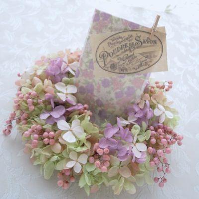 ウェルカム ミニリース | プリザーブドフラワー*ウエディング&ギフト 花のアトリエchouette!
