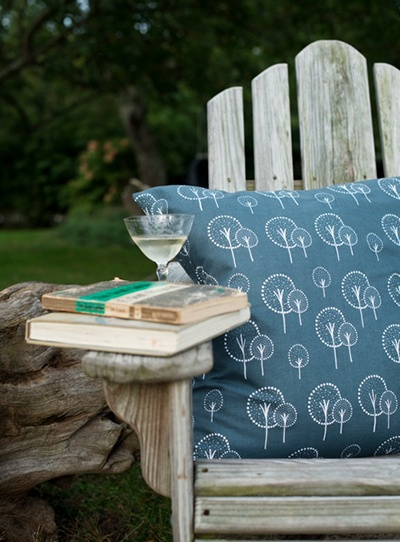 Relax on a hot summer's day with a cushion on your garden chair and a nice glass of wine...bliss