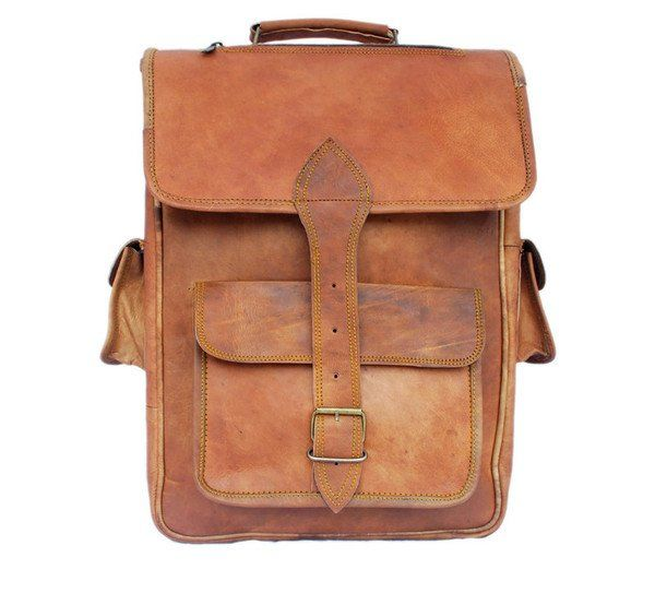 Leather Satchel Backpack 16""