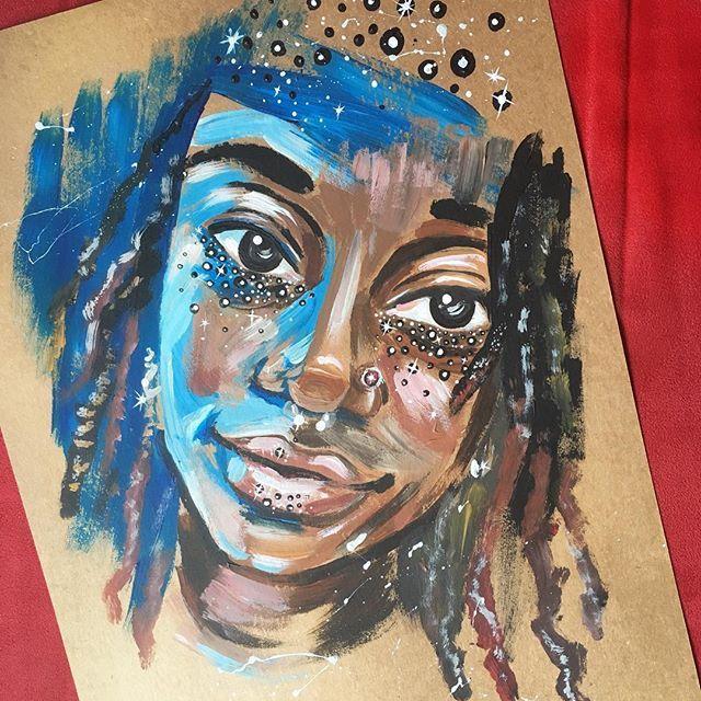 #acrylics #myart #selfportrait #instaart #art #stars #painting