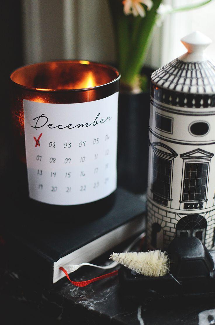 Adventskalender, advent calendar, download, fri print
