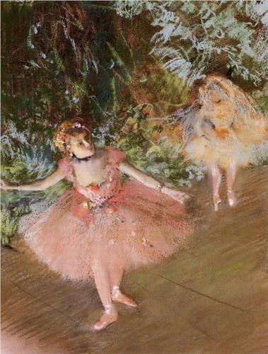 Dancer on Stage - Edgar Degas
