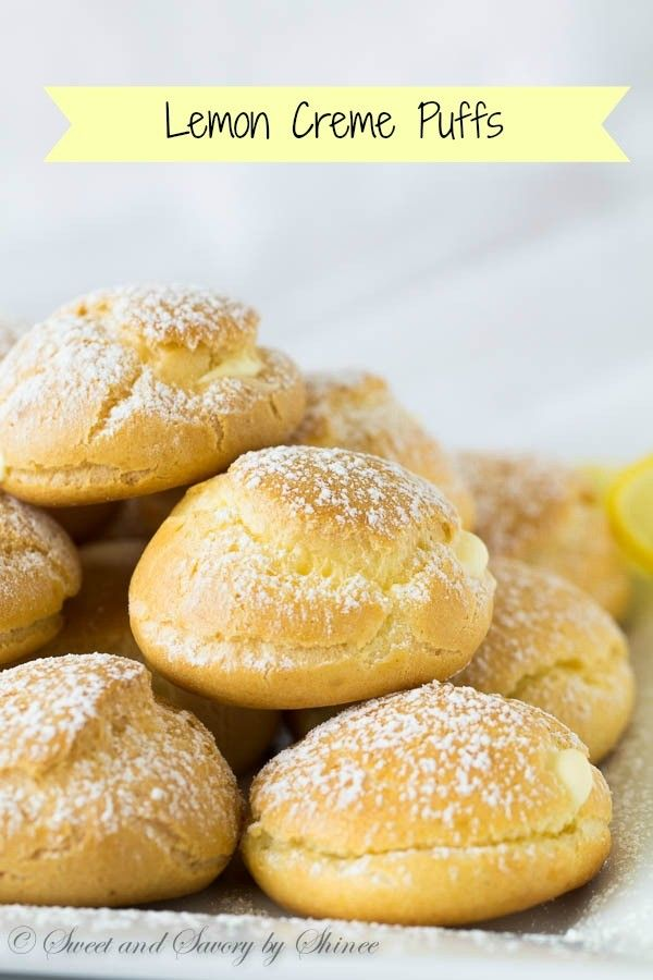 You will fall in love with these light and puffy pastry shells, filled with creamy tangy lemon curd filling from your very first bite.