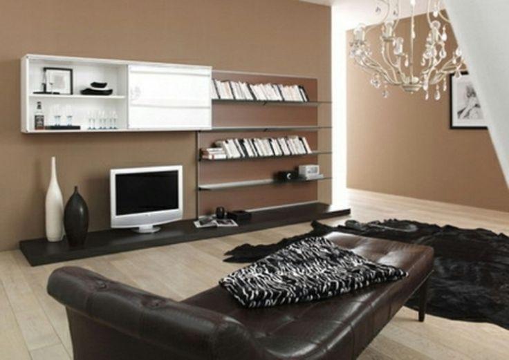moderne wohnzimmer farben 2012 modernes wohnzimmer braun akzente ...