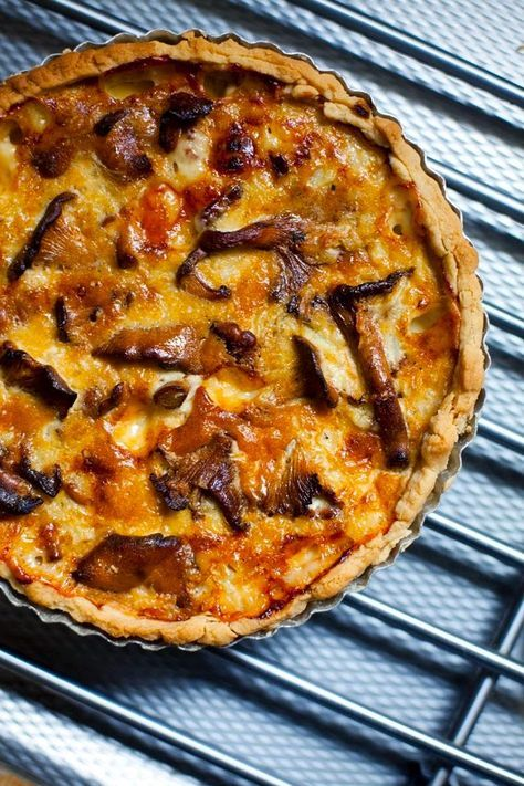 Swedish Recipe: Chanterelle Mushroom Pie with ( Västerbottenost ) | NATURE WHISPER