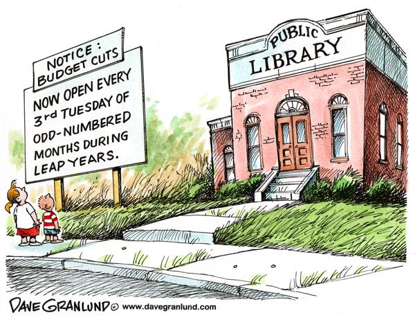 Library cuts