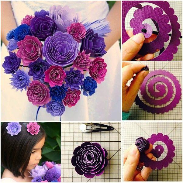 Wedding Flower Bouquet #Handmade_Paper_Flowers http://handmade4all.com/