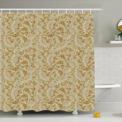 "Ambesonne Paisley Bohemian Shower Curtain Set Size: 84"" H x 69"" W x 1"" D"