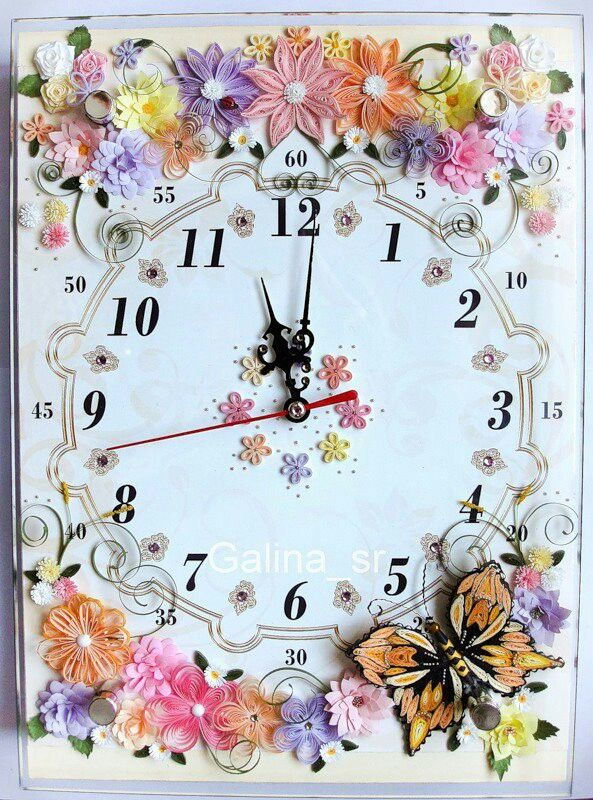 Beautiful Quilled Clock Face