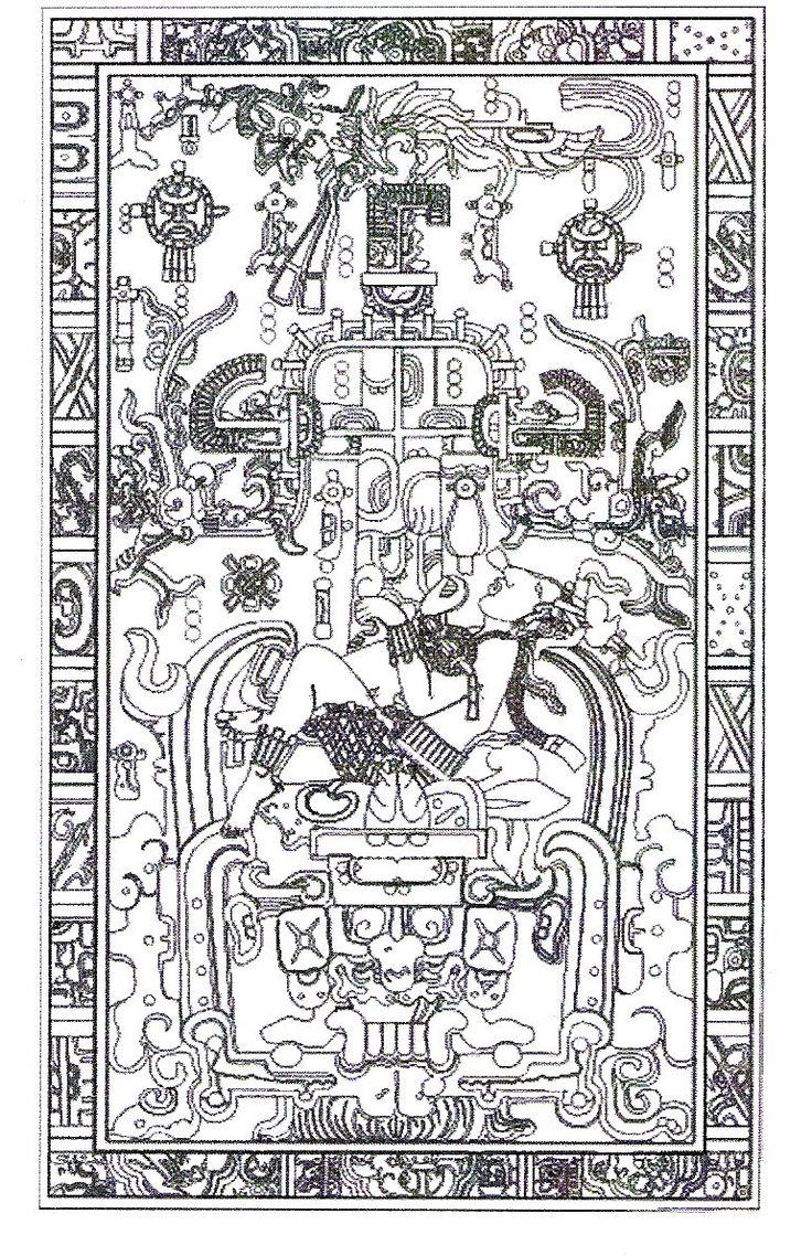 King Pakal Palenque, AD 683 Astronauta en su nave?