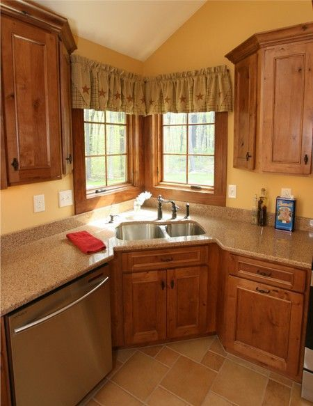 Image Result For Kitchen With Corner Sink And Windows Kitchen Sink Remodel Kitchen Sink Design Kitchen Layout
