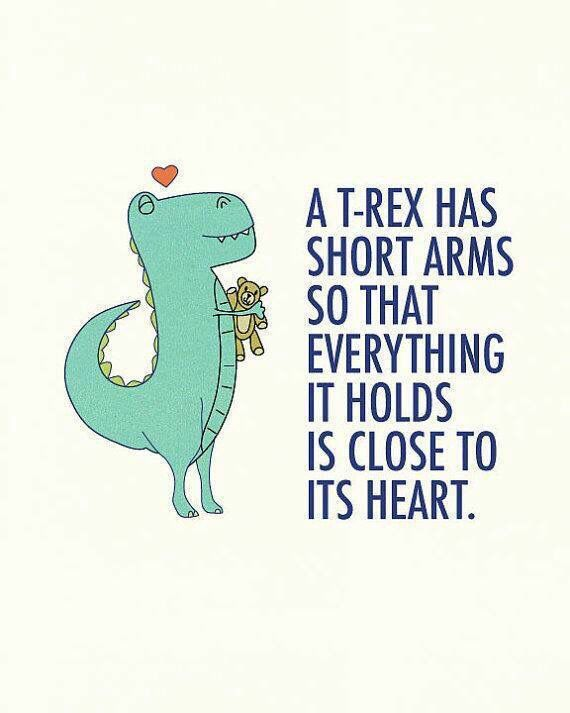 Trex short arms warm feelings