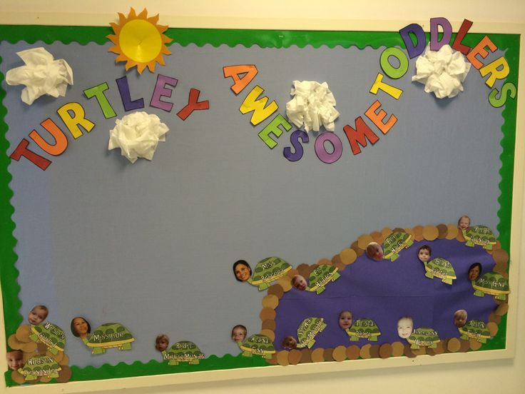 Turtle bulletin board for toddlers