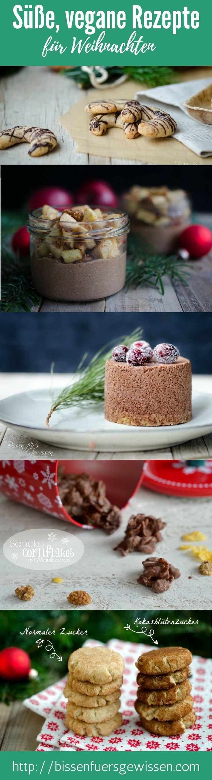 Vegane und süße Rezept für Weihnachten: Weihnachtskekse, Weihnachtsdesserts und Backwaren. Lebkuchenmuffins, Snickerdoodles, Schokomousseparfait fürs Weihnachtsessen und viele weitere Rezepte. #vegan #rezeptesammlung #Weihnachten #Weihnachtskekse