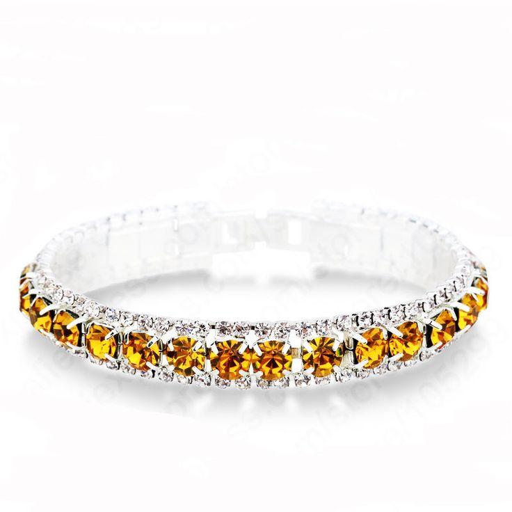 Vintage Inspired Topaz Crystal Line Bracelet (Sparkle-2671) #Unbranded #Tennis