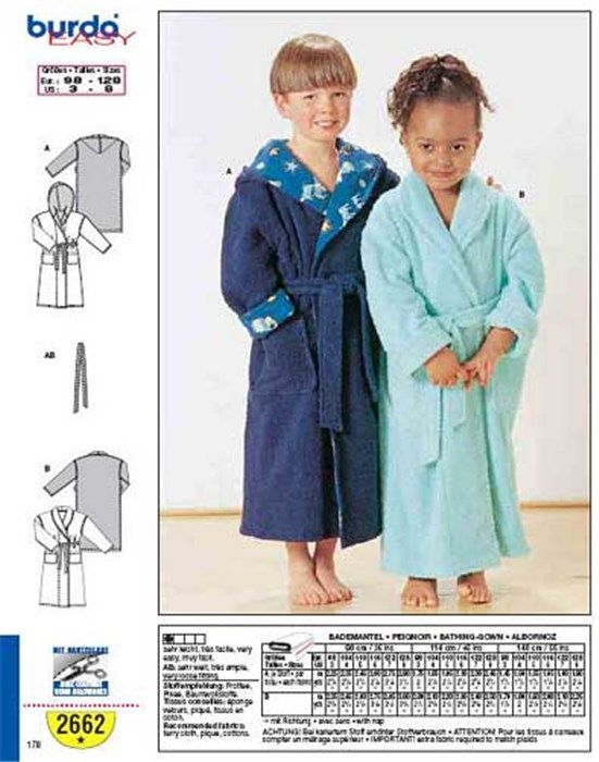 Epingle Sur Peignoirs Enfants